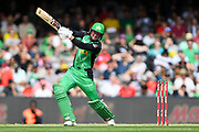 17th February 2019, Marvel Stadium, Melbourne, Australia; Australian Big Bash Cricket League Final, Melbourne Renegades versus Melbourne Stars; Ben Dunk of the Melbourne Stars cuts the ball