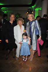 Left to right, JENNY SEAGROVE, HOPE KENWRIGHT, LUCY KENWRIGHT and her daughter TIGGY at the press night of the new Andrew Lloyd Webber  musical 'The Wizard of Oz' at The London Palladium, Argylle Street, London on 1st March 2011 followed by an aftershow party at One Marylebone, London NW1