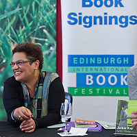Jackie Kay book signing at the Edinburgh International Book Festival 2013. <br /> 16 August 2013. <br /> <br /> Photograph by Chris Scott/Writer Pictures <br /> WORLD RIGHTS