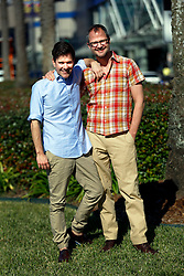 16 January 2016. New Orleans, Louisiana.<br /> The Fabulous Beekman Boys. L/R; Brent Ridge and Josh Kilmer-Purcell.<br /> Photo©; Charlie Varley/varleypix.com