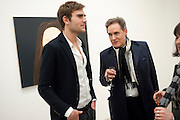OSCAR HUMPHRIES; PETER YORK, Alex Katz opening. Timothy Taylor gallery. London. 3 March 2010.