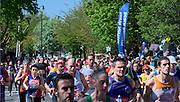 London. United Kingdom. 2014 London Marathon.  Narrow Street Limehouse, East London. Athletics 12:24:38  Sunday  13/04/2014  [Mandatory Credit; Peter SPURRIER/ Intersport Images],