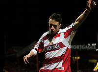 Photo: Jed Wee.<br /> Doncaster Rovers v Arsenal. Carling Cup. 21/12/2005.<br /> <br /> Doncaster's Michael McIndoe celebrates after giving them an early lead.