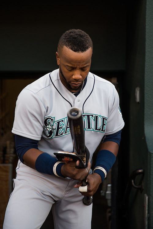 BALTIMORE, MD - MAY 20:  Rickie Weeks #25 of the Seattle Mariners looks on during the game against the Baltimore Orioles  at Camden Yards on May 20, 2015 in Baltimore, Maryland. (Photo by Rob Tringali) *** Local Caption *** Rickie Weeks