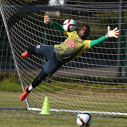 DURBAN, SOUTH AFRICA - Tuesday 9th June 2015 Itumeleng Khune during The Bafana Bafana training session at  Moses Mabhida Stadium on Tuesday 9th June 2015,in Durban, South Africa<br /> Photo by Steve Haag