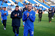 Peterborough midfielder George Cooper claps the fans after the EFL Sky Bet League 1 match between Peterborough United and Burton Albion at London Road, Peterborough, England on 4 May 2019.