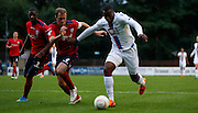 Jerome Binnom-Williams charging forward during the Pre-Season Friendly match between Hampton & Richmond and Crystal Palace at Beveree Stadium, Richmond Upon Thames, United Kingdom on 27 July 2015. Photo by Michael Hulf.