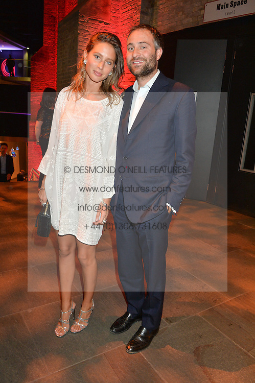 BEN GOLDSMITH and his wife JEMIMA at a Night of Disco in aid of Save The Children held at The Roundhouse, Chalk Farm Road, London on 5th March 2015.