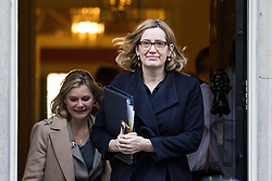 © Licensed to London News Pictures. 28/11/2017. London, UK. Home Secretary Amber Rudd leaves 10 Downing Street after the weekly Cabinet meeting. Photo credit: Rob Pinney/LNP