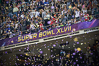 3 February 2013: The Baltimore Ravens win Superbowl XLVII 34-31 over the San Francisco 49ers at the Mercedes-Benz Superdome in New Orleans, LA.