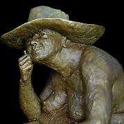 """Cow Girl"" by Sumner Winebaum. Detail."