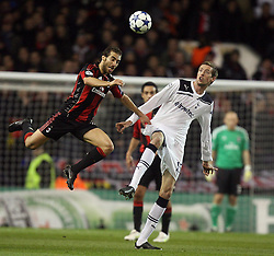 09.03.2011, White Hart Lane, London, ENG, UEFA CL, Tottenham Hfc vs AC Milan, im Bild AC Milan's Mathieu Flamini and Tottenham's Peter Crouch   during Tottenham Hfc vs AC Milan for the last 16 round of the UCL at White Hart Lane   in London on 09/03/2011. EXPA Pictures © 2011, PhotoCredit: EXPA/ IPS/ Marcello Pozzetti +++++ ATTENTION - OUT OF ENGLAND/UK and FRANCE/FR +++++