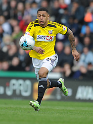 Andre Gray Brentford,   Derby County, Derby County v Brentford, Sky Bet Championship, IPro Stadium, Saturday 11th April 2015. Score 1-1,  (Bent 92) (Pritchard 28)<br /> Att 30,050