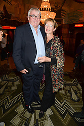 CHRISTOPHER BIGGINS and CELIA IMRIE at a first night of Celia Imrie's show Laughing Matters held at The Crazy Coqs, Brasserie Zedel, 20 Sherwood Street, Piccadilly, London on 17th September 2013.