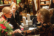 MRS. MICHAEL FULFORD-BOBSON; MRS. ALAN CAMPBELL JOHNSON;  LADY PAMELA HICKS; , Book launch for ' Daughter of Empire - Life as a Mountbatten' by Lady Pamela Hicks. Ralph Lauren, 1 New Bond St. London. 12 November 2012.