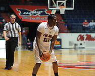 """Ole Miss' Latosha Laws (23) at the C.M. """"Tad"""" Smith Coliseum in Oxford, Miss. on Thursday, January 12, 2012."""