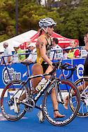 Felicity Abram AUS.Womens ITU Race.2011 Dextro Energy Triathlon ITU World Championship Sydney.Sydney, New South Wales, Australia..Hosted By USM Events.Proudly Supported By Asics, Dextro, Suunto, Events New South Wales, Subaru, USM Events..10/04/2011.Photo Lucas Wroe