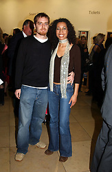 Radio & TV presenter MARGHERITA TAYLOR and MR ALI B at the Depal Trust 2in1 Art Party at The National Portrait Gallery, London on 25th October 2004.<br />