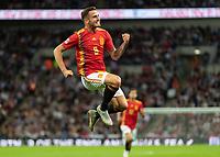 Football - 2018 / 2019 UEFA Nations League A - Group Four: England vs. Spain<br /> <br /> Saul Niguez (Spain) celebrates after scoring the equaliser for Spain at Wembley Stadium.<br /> <br /> COLORSPORT/DANIEL BEARHAM