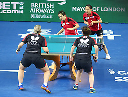 February 23, 2018 - London, England, United Kingdom - during 2018 International Table Tennis Federation World Cup match between Arsenal against Everton at Copper Box Arena, London  England on 23 Feb 2018. (Credit Image: © Kieran Galvin/NurPhoto via ZUMA Press)