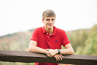 Connor Craig senior portrait session at Gunstock.  ©2016 Karen Bobotas Photographer