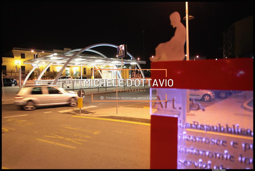 Nella foto stazione ferroviaria il parcheggio sotteraneo..Novi Ligure, terzo comune per popolazione della provincia di Alessandria.