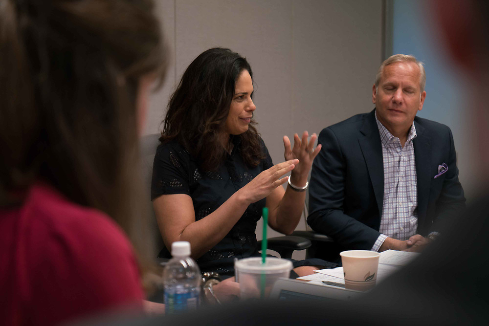 Soledad O'Brien, in a mtg Photo Ken Cedeno/UPI