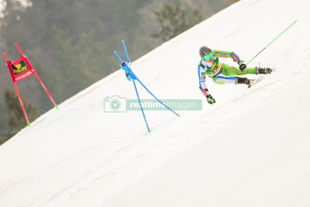 March 9, 2019 - Kranjska Gora, Kranjska Gora, Slovenia - Borut Bozic of Slovenia in action during Audi FIS Ski World Cup Vitranc on March 8, 2019 in Kranjska Gora, Slovenia. (Credit Image: © Rok Rakun/Pacific Press via ZUMA Wire)