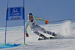 27.10.2013, Rettenbach Ferner, Soelden, AUT, FIS Weltcup, Ski Alpin, Riesenslalom, Herren, 1. Durchgang, im Bild Fritz Dopfer from Germany // Fritz Dopfer from Germany in action during 1st run of mens Giant Slalom of the FIS Ski Alpine Worldcup opening at the Rettenbachferner in Soelden, Austria on 2012/10/27. EXPA Pictures © 2013, PhotoCredit: EXPA/ Mitchell Gunn<br /> <br /> *****ATTENTION - OUT of GBR*****