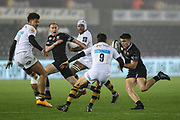 Reuben Morgan-Williams of the Ospreys during the Anglo Welsh Cup match between Ospreys and Wasps at The Liberty Stadium, Swansea, Wales on 10 November 2017. Photo by Andrew Lewis.