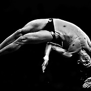 Mexico's Rommel Pacheco competes in the men's diving 10m platform semifinal at the Beijing 2008 Olympic Games, Beijing, China, 23 August, 2008.