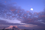 Mountain Rainier moon rise
