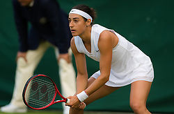 July 1, 2019 - London, GREAT BRITAIN - Caroline Garcia of France in action during the first round of the 2019 Wimbledon Championships Grand Slam Tennis Tournament against Shuai Zhang of China (Credit Image: © AFP7 via ZUMA Wire)