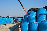 10 000 bags of contaminated soil are being stored on a mountain in the village Shidamayo, 27 km from The Fukushima Daiichi Nuclear Power Plant. The bags will be stored at the mountain location for five years, then the bags will be move to Futaba, a town closer to the Nuclear Power Pant. Fukushima Prefecture, Japan<br /> <br /> P&aring; ett berg i Shidamyo, 27 km fr&aring;n k&auml;rnkraftverket Fukushima Daiichi, lagras 10 000 s&auml;ckar med kontaminerad jord. H&auml;r ska s&auml;ckarna f&ouml;rvaras i 5 &aring;r, d&auml;refter ska de flyttas n&auml;rmare k&auml;rnkraftverket till Futaba. Fukushima Prefektur, Japan