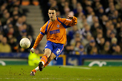 LIVERPOOL, ENGLAND - Saturday, January 5, 2008: Oldham Athletic's Neal Eardley in action against Everton during the FA Cup 3rd Round match at Goodison Park. (Photo by David Rawcliffe/Propaganda)