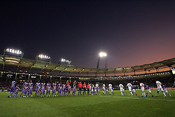 A general view of the sunset as both teams line up before the game. Toulouse v Trabzonspor, Europa Cup, Second Leg, Stade Municipal, Toulouse, France, 27th August 2009.