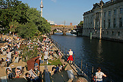 Berlin, cafe along the river Sprea