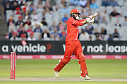 Lancashires Arron Lilley during the Vitality T20 Blast North Group match between Lancashire Lightning and Durham Jets at the Emirates, Old Trafford, Manchester, United Kingdom on 7 August 2018.