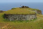Orongo restored Village, Easter Island (Rapa Nui), Chile<br />