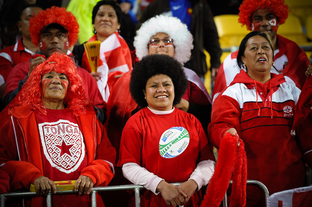 during the Pool A, France v Tonga match at the IRB Rugby World Cup 2011. Wellington Regional Stadium, Wellington. Saturday 1 October 2011...Photo: Mark Tantrum/photosport.co.nz