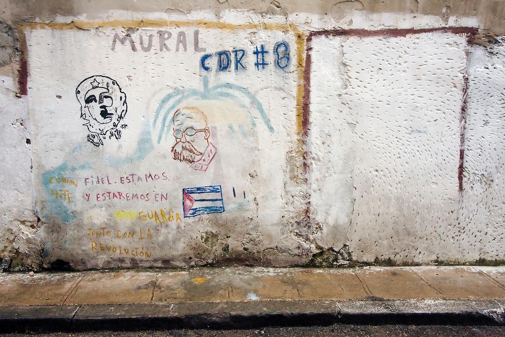 CDR mural in Havana Centro, Cuba.