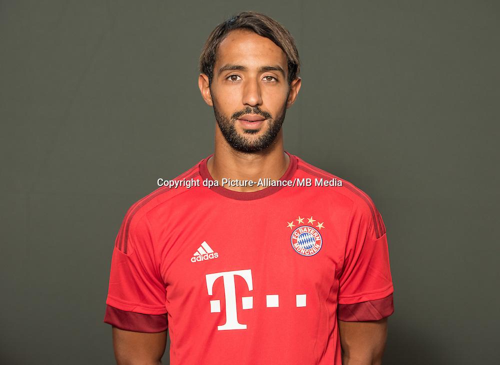 German Soccer Bundesliga 2015/16 - Photocall of FC Bayern Munich on 16 July 2015 in Munich, Germany: Medhi Benatia El Moutaqui