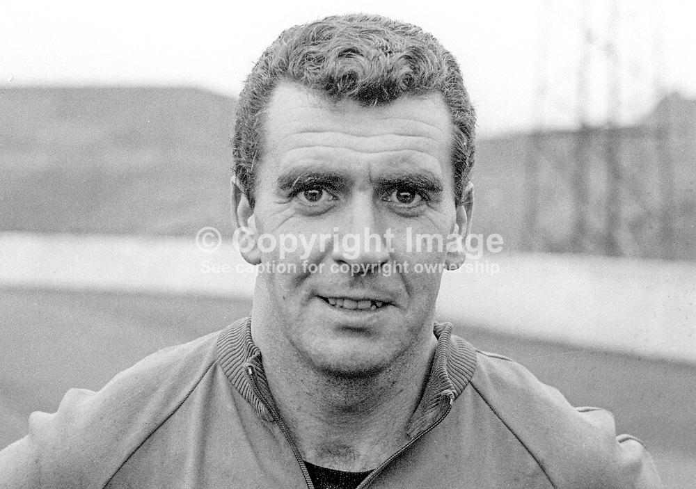 John Colrain, footballer, coach, Glentoran FC, N Ireland, Scottish, Under 23 International. June 1966. 196606000131<br /> <br /> Copyright Image from Victor Patterson, 54 Dorchester Park, Belfast, UK, BT9 6RJ<br /> <br /> Tel: +44 28 9066 1296<br /> Mob: +44 7802 353836<br /> Voicemail +44 20 8816 7153<br /> Email: victorpatterson@me.com<br /> Email: victorpatterson@gmail.com<br /> <br /> IMPORTANT: My Terms and Conditions of Business are at www.victorpatterson.com