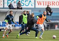 FODBOLD: Patrick Olsen (FC Helsingør) under opvarmningen til kampen i NordicBet Ligaen mellem FC Helsingør og HB Køge den 17. marts 2019 på Helsingør Stadion. Foto: Claus Birch