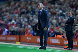 LIVERPOOL, ENGLAND - Wednesday, September 23, 2015: Carlisle United's manager Keith Curle during the Football League Cup 3rd Round match against Liverpool at Anfield. (Pic by David Rawcliffe/Propaganda)