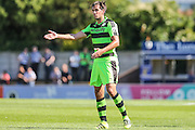 Forest Green Rovers Darren Carter (12)  during the Vanarama National League match between Boreham Wood and Forest Green Rovers at Meadow Park, Boreham Wood, United Kingdom on 6 August 2016. Photo by Shane Healey.