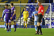 Portsmouth goalkeeper Alex Bass in action during the EFL Sky Bet League 1 match between Coventry City and Portsmouth at the Trillion Trophy Stadium, Birmingham, England on 11 February 2020.