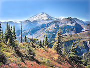 Mt. Baker on autumn Afternoon seen from Austin Pass, North Cascades, Washington State