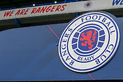 The club logo proudly displayed above the tunnel during the Ladbrokes Scottish Premiership match between Rangers and Aberdeen at Ibrox, Glasgow, Scotland on 27 April 2019.
