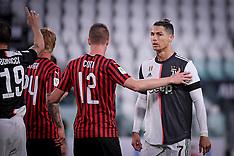 Juventus-Milan During Italian Cup 2019/2020 - Turin